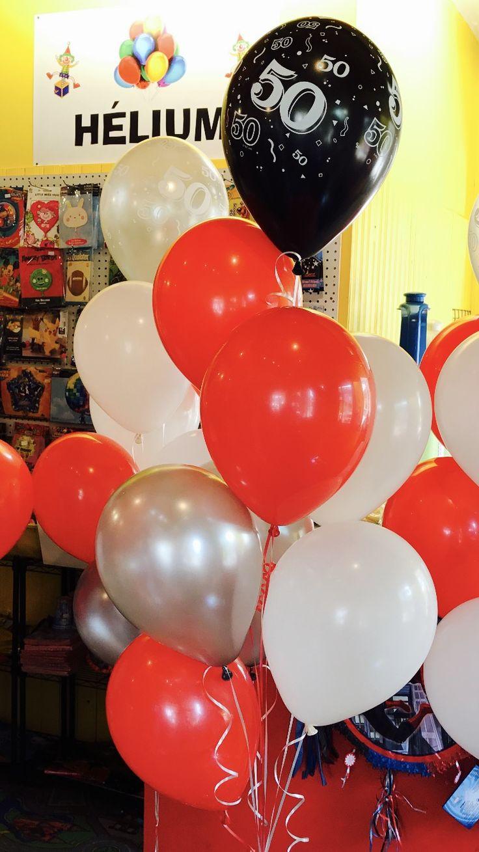 Super Livraison de Ballons à l'hélium pour Saint Sauveur, direction restaurant sur la principale!