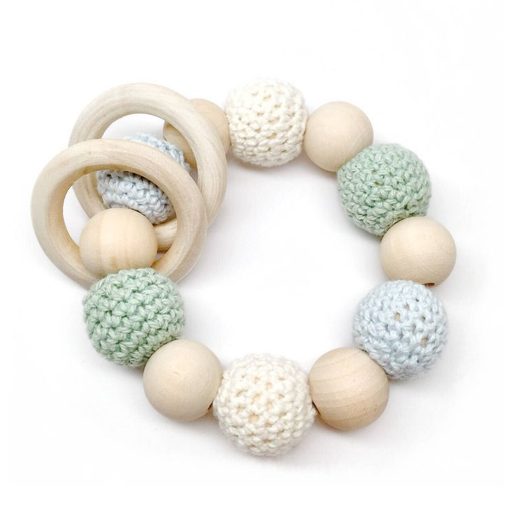 Jade Organic Wood Bead Teething Toy / Teething Ring / Natural Wood Teether / Late Night Luna by LateNightLuna on Etsy https://www.etsy.com/listing/556219684/jade-organic-wood-bead-teething-toy