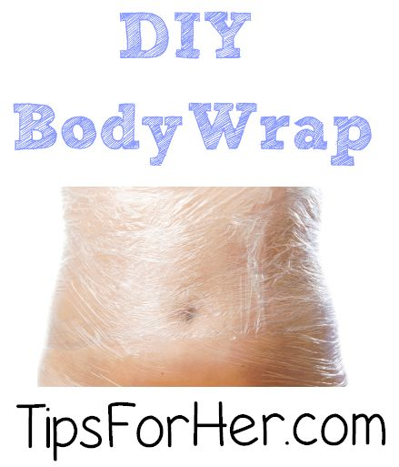 DIY Body Wrap - Tone, tighten, and firm in 45 minutes. Works amazing for cellulite control and spot treatments.