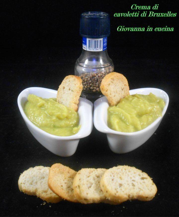 Crema di cavoletti di Bruxelles, senza sale, giovanna in cucina