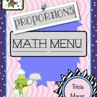 The Proportions Math Menu is an authentic assessment project for students in grades 6-8. After completing a unit on proportions, the math menu offe...