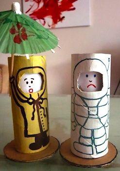 Toilet paper roll emotion dolls