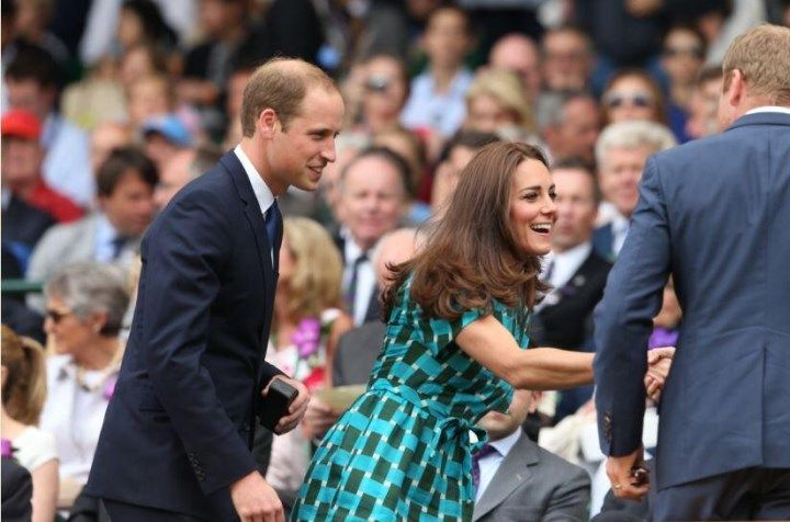 The Duke and Duchess of Cambridge were in the Royal Box for the men's singles final at Wimbledon - July 6, 2014
