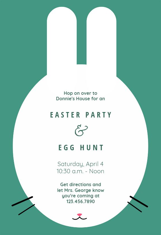 30 best Easter Invitations Templates images on Pinterest