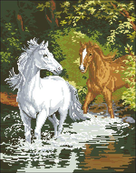 "Вышивка ""Лошади"""