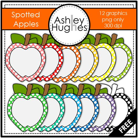 FREE Spotted Apples: Graphics/Clipart for Commercial Use and more free printables