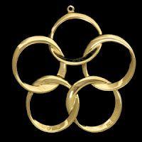Five Golden Rings - Twelve Days of Christmas - Inky Fool: Five Gold Rings