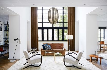 House tour: a historic penthouse receives an entirely custom-made renovation: The collaboration between the design duo Geerlings and Faase commenced with the full refurbishment of the property, that took an entire year. They started by stripping the building of all its existing fixtures and fittings. Only the shell of the original building was left intact.
