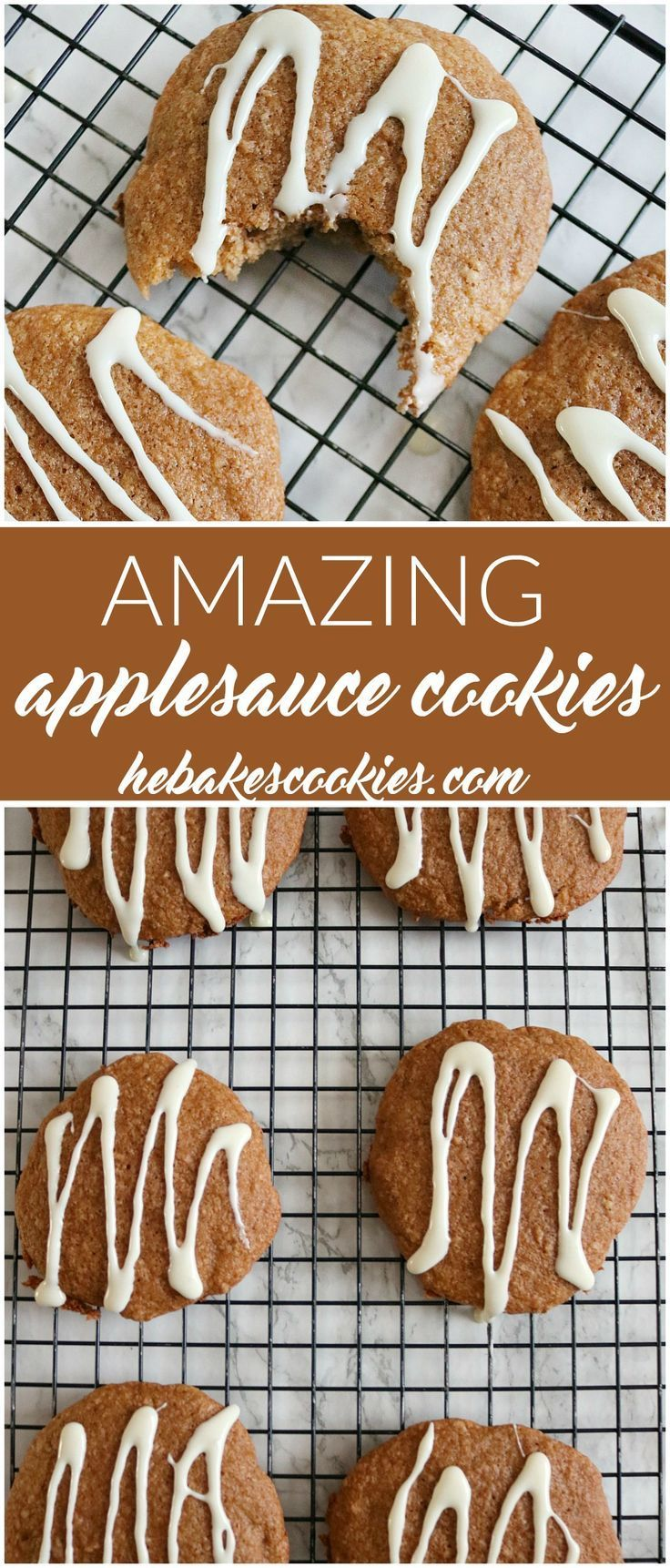 Nothing says fall like apples! These amazing applesauce cookies are soft, moist