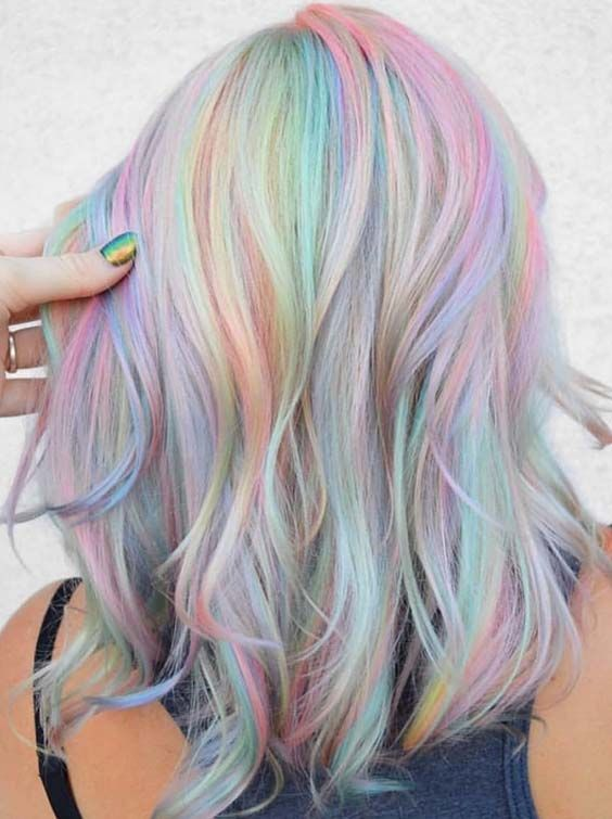 49 Pretty Rainbow Hair Color Trends for 2018