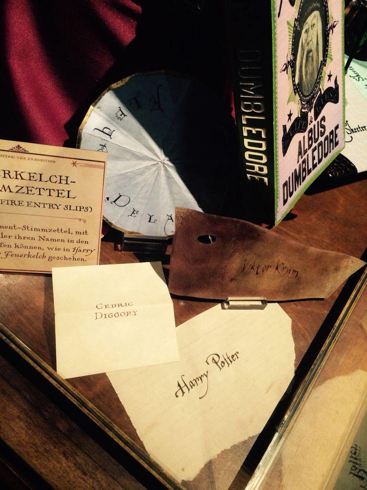 Harry Potter Exhibition Cologne - Ausstellung Köln  Goblet Of Fire Entry Slips - Feuerkelch Stimmzettel