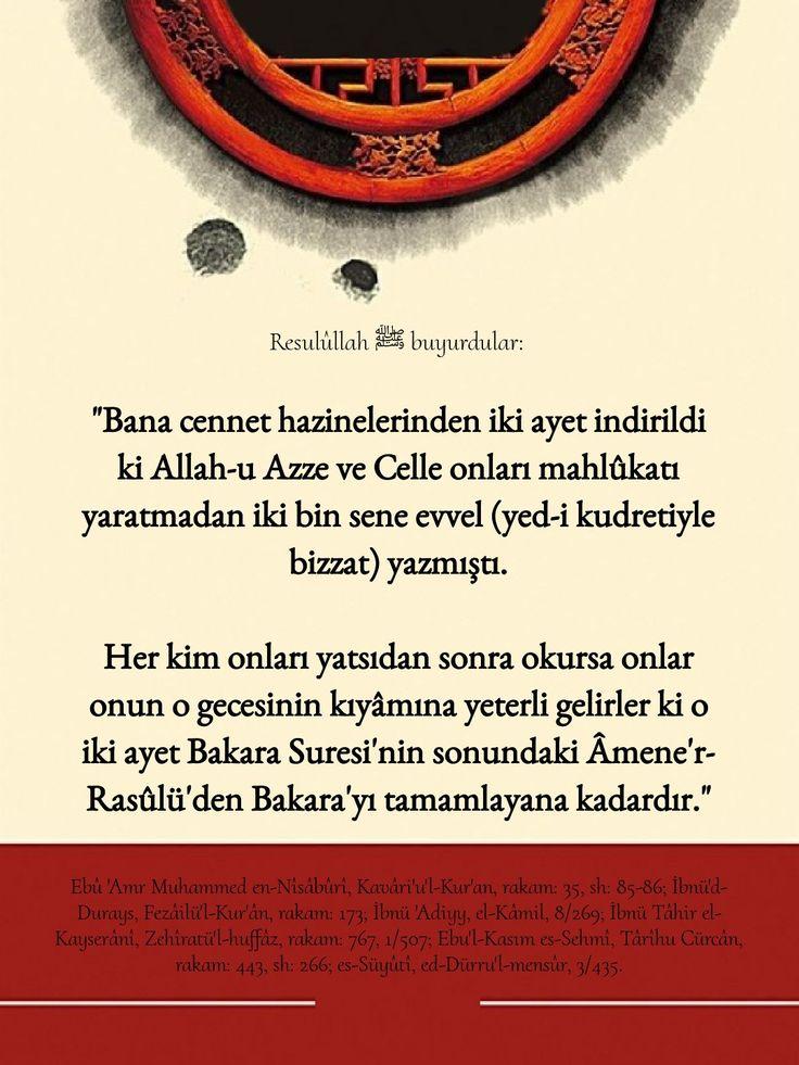 Hadis Hadis I Serif Bakara Suresi Amenerrasulu Islam Dualar