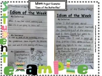 Idiom of the Week- A School Year of Idioms!