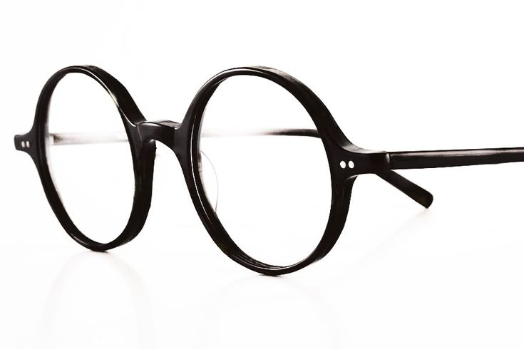 K&B, glasses round 1410 Black 46-23