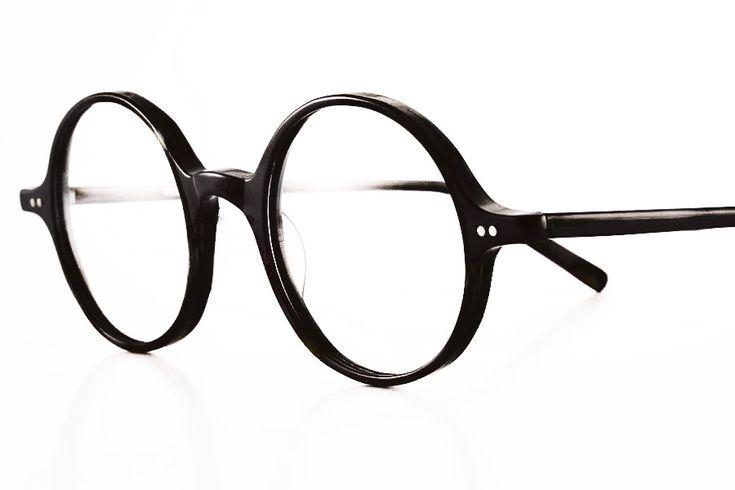 K&B, glasses round 1410 Black 46-23