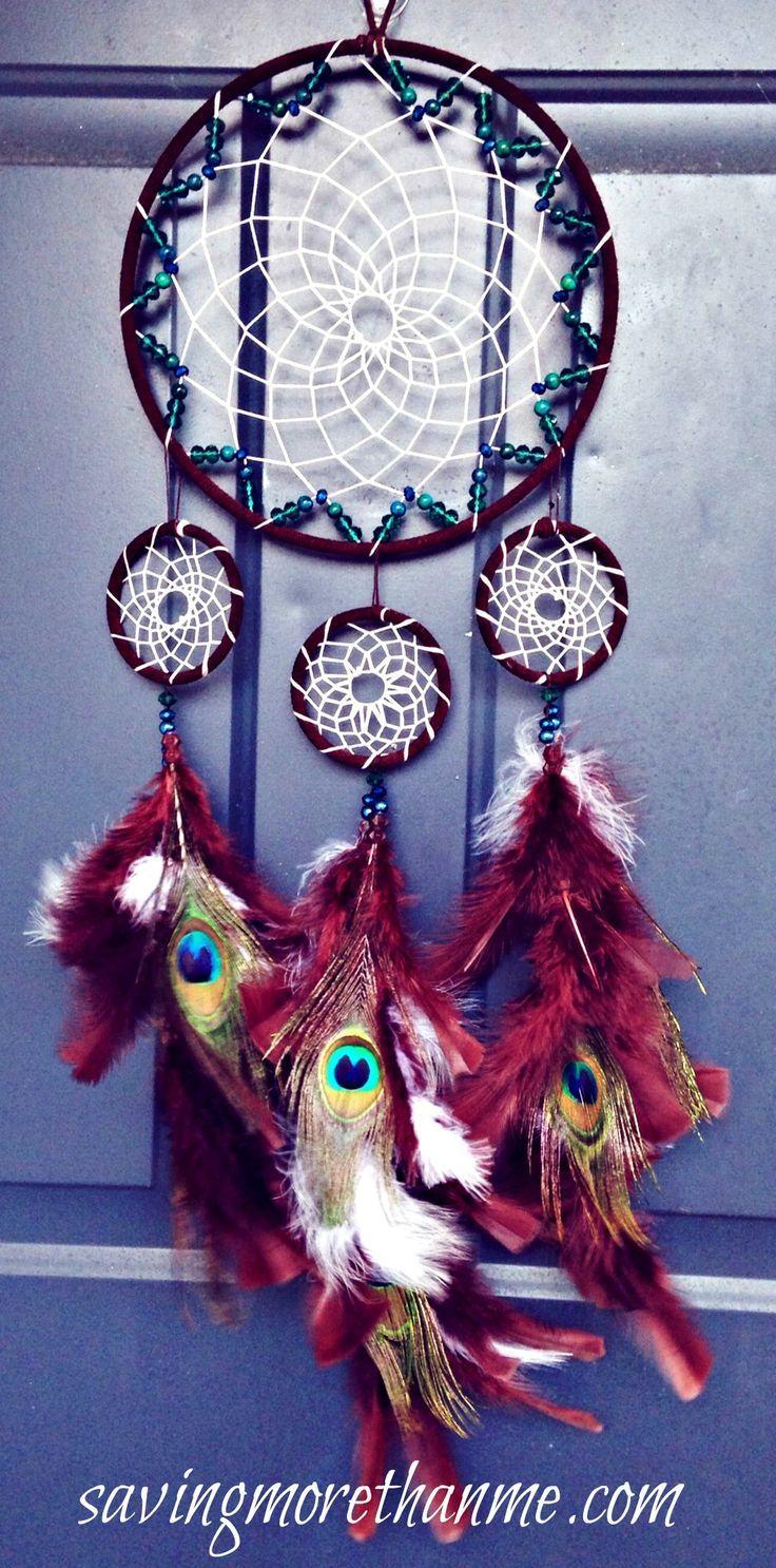 DIY Peacock Dreamcatcher