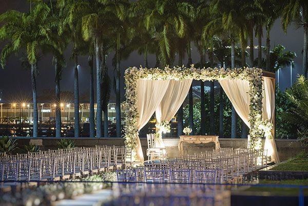 Decoração de casamento clássica no MAM Rio