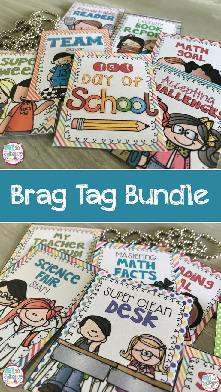 This huge brag tag bundle will transform your classroom management! Brag tags help students to focus on academic and behavior goals and can replace the treasure box or clip chart.