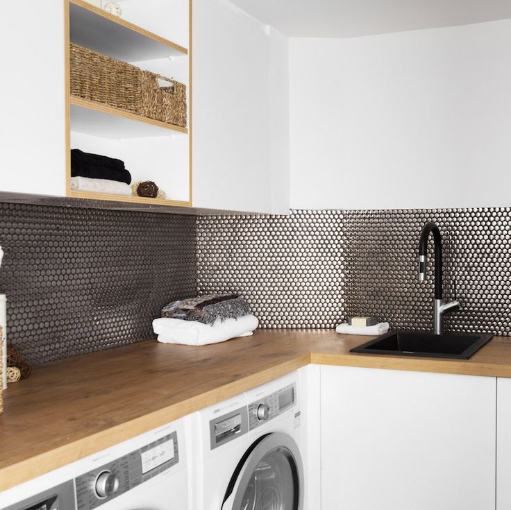 Suzi and Vonni Room 5 | Study, Laundry and Powder #theblock #theblockshop #laundry