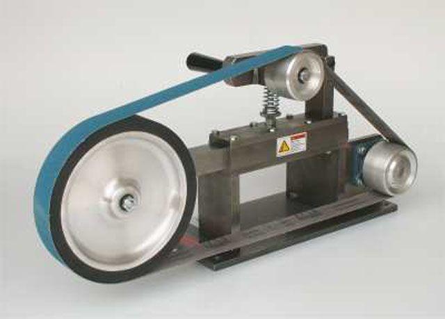 Knife Belt Grinder | ... grinding setup beaumont metalworks offer the excellent kmg grinder