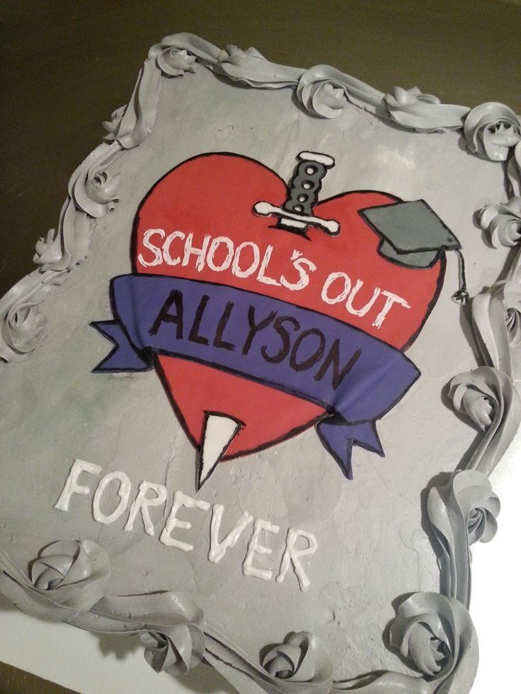 Schools Out Forever Cake Alice Cooper Cakes Pinterest