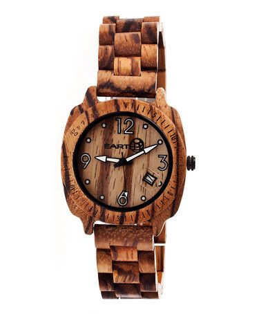Love this Brown Indios Wood Bracelet Watch by EARTH wood watches on #zulily! #zulilyfinds