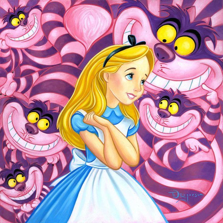 *ALICE & THE CHESHIRE CAT ~ Alice in Wonderland, 1951