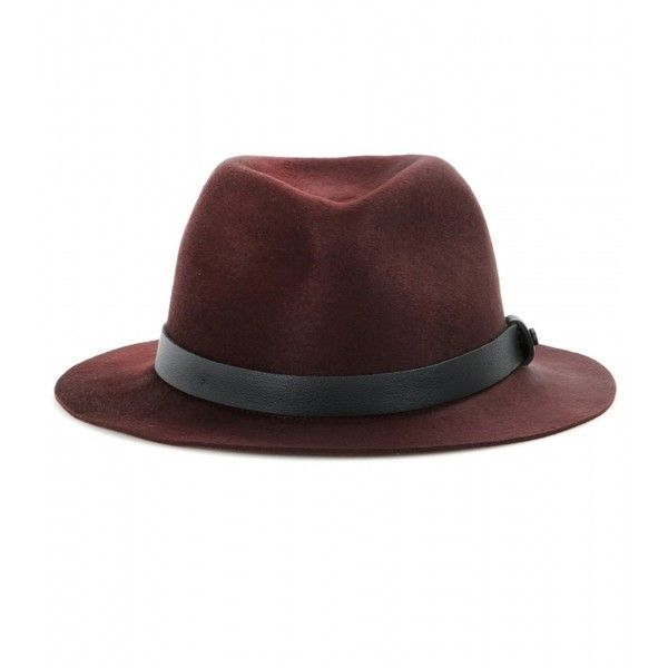 Rag & Bone Abbot Felted Wool Fedora ($140) ❤ liked on Polyvore featuring accessories, hats, head, red, rag & bone, wool fedora, red fedora, wool fedora hat and rag & bone hat