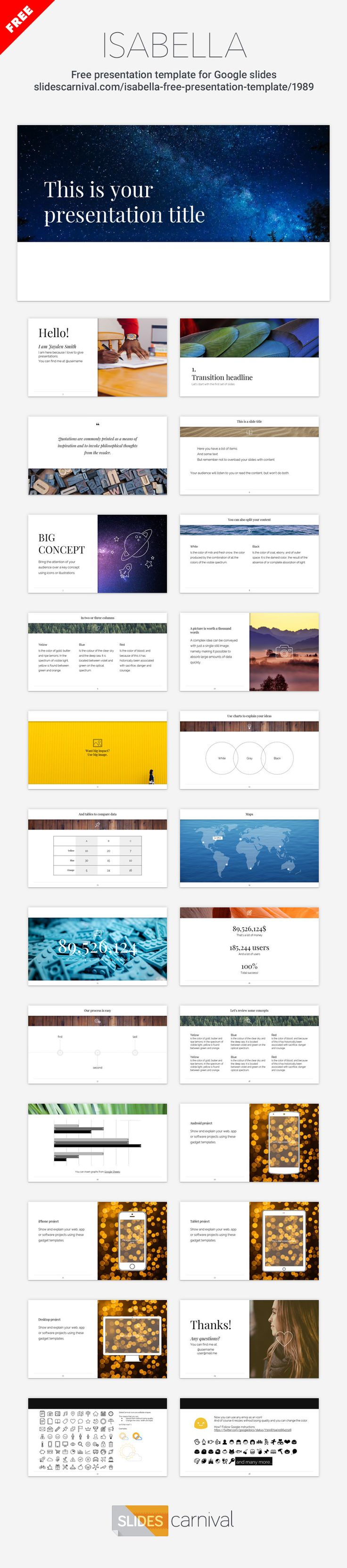 79 best free presentation templates images on pinterest free use a minimal and elegant design for your next presentation and your content will shine simple powerpoint templatesfree alramifo Image collections