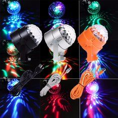 #Banggood Uking RGB 3 LED свет этапа хрустальный шар эффект освещения клуба партии диско DJ XMAS лампы (1112023) #SuperDeals