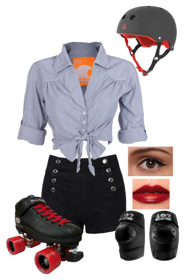 U0026quot;Roller Derbyu0026quot; By Ltspork Liked On Polyvore Featuring NARS Cosmetics LE3NO Soul Cal Riedell ...