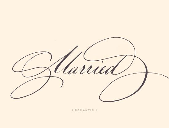 5 Calligraphy styles for your envelopes | Julep Romantic: Ted Clausen
