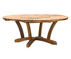 Tavolo in teak naturale - d 180/h 75 cm