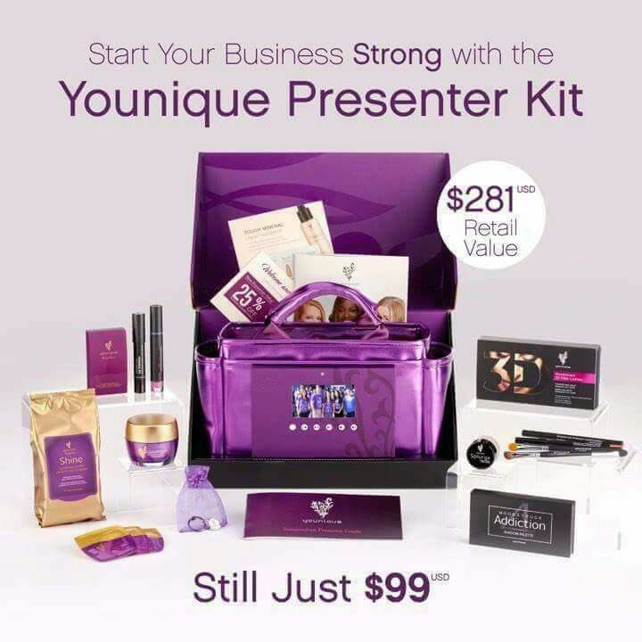 This Work From Home Business can be the beginning of yours for ONLY $99.00 BEGINNING 01-02-2017. THIS new Younique Presenter Kit includes the a 1GB TABLET AND the New Formulated 3D Mascara. You can Join and become a part of my team at www.lashesnbeauty.com Come on - what are YOU waiting for?