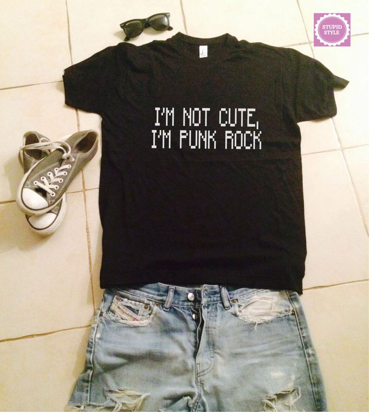 I'm not cute i'm punk rock t-shirts for women tshirts shirts gifts t-shirt womens tops girls tumblr funny girlfriend teenagers fashion teens by stupidstyle on Etsy https://www.etsy.com/listing/207232353/im-not-cute-im-punk-rock-t-shirts-for