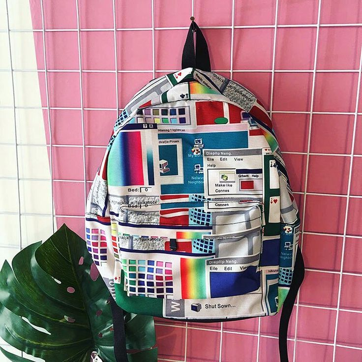 Aesthetic Windows 95 backpack  BOOGZELAPPAREL.COM #boogzel #boogzelapparel