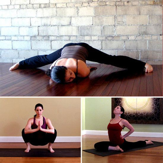 """Stretches for tight hips (hip flexers, t-band, sciatica) tight hips can be the reason for a lower belly """"pooch"""" so do them!"""