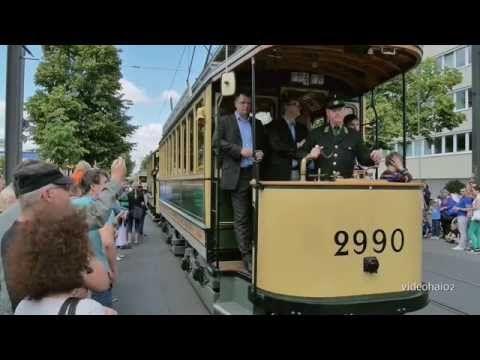 150 Jahre Straßenbahn , historischer Straßenbahnkorso BVG Berlin 2015 - YouTube