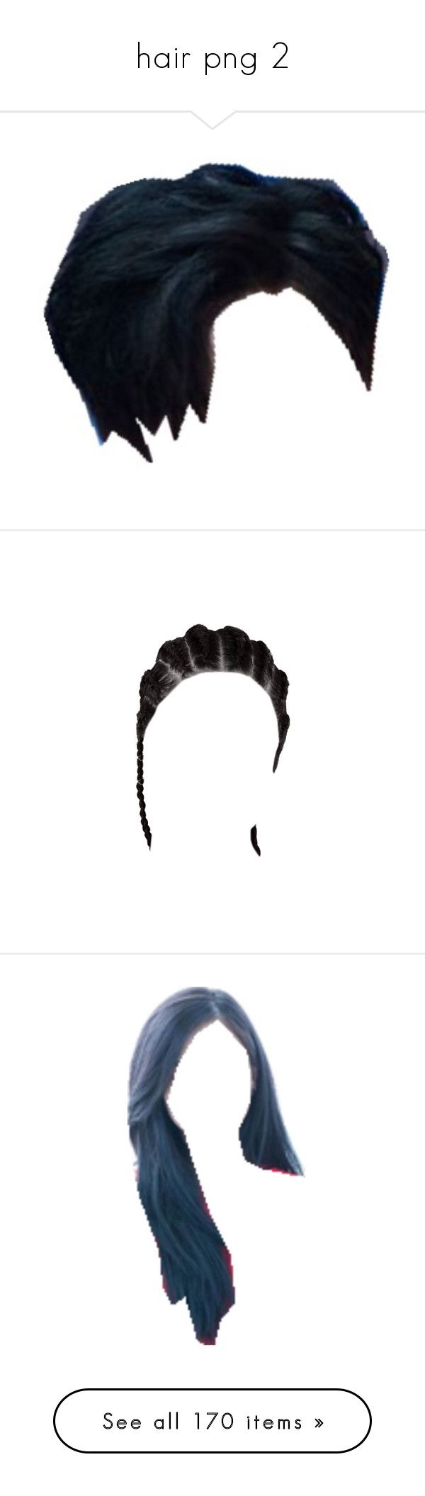 """""""hair png 2"""" by mingyv ❤ liked on Polyvore featuring hair, wigs, hairstyles, beauty products, haircare, hair styling tools, doll parts, doll hair, filler and beauty"""