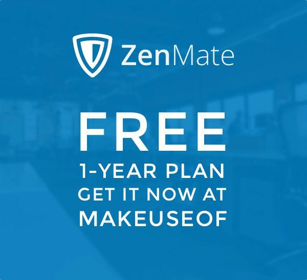 Enter to win a 1-year ZenMate VPN plan!