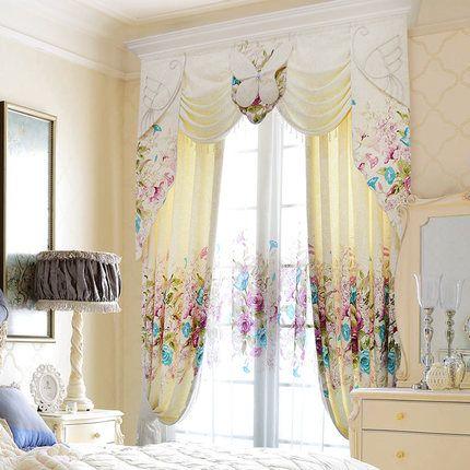 美式乡村女生漂亮北欧田园温馨时尚客厅卧室韩式窗帘纱定制凯妮拉