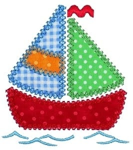 Sail boat Applique