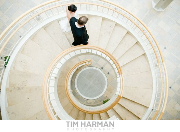 Spiral Stairs At Fernbank Museum Atlanta, This Is The Entrance For The  Wedding Party To