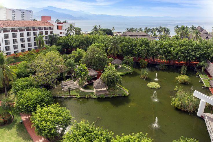 The stunning lagoon at the Melia Puerto Vallarta.