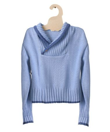 Take a look at this Blue Handsome Double Neck Organic Sweater - Toddler & Boys by Mole - Little Norway on #zulily today!