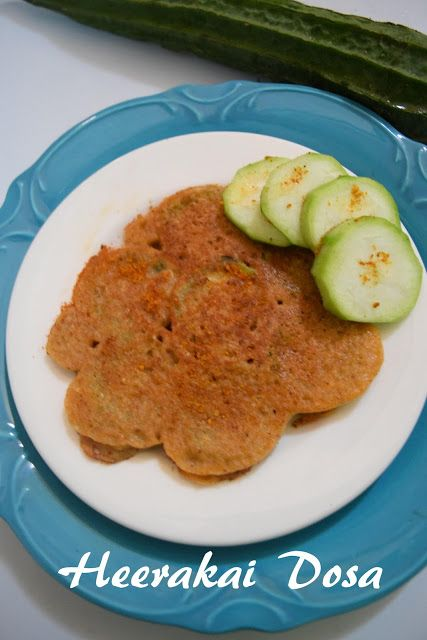 Healthy & Tasty Vegetarian Recipes: Heerakai Dosa (Ridge Gourd Dosa)