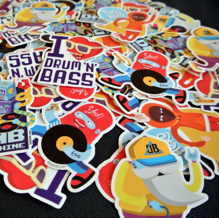 Drum n bass pack by Stickypiccrew. Available on http://stickypiccrew.bigcartel.com/product/die-cut-stickers-drum-n-bass-pack