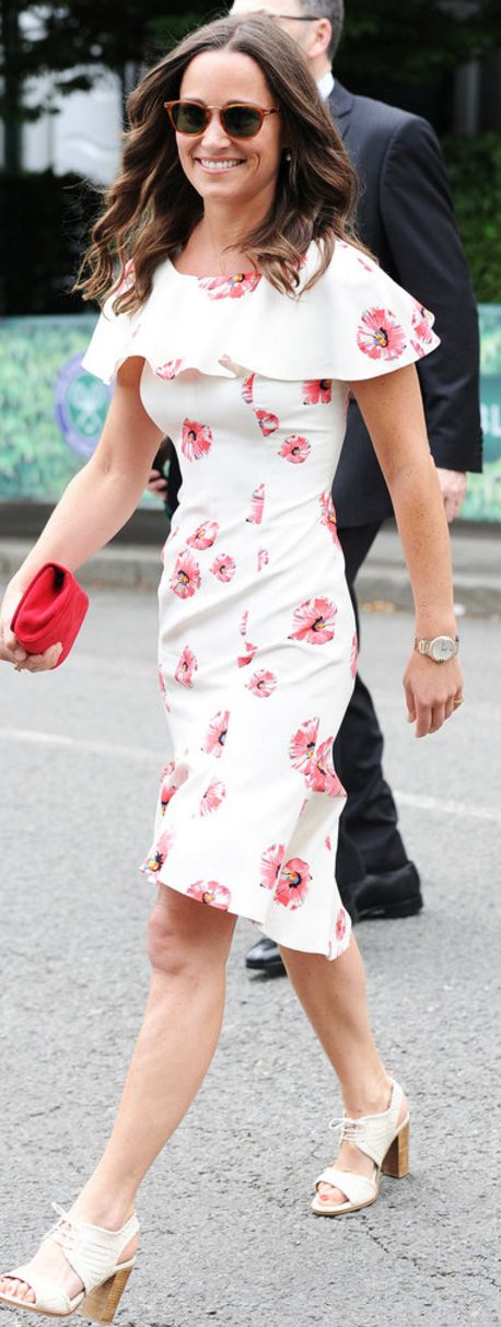 Who made  Pippa Middleton's white floral ruffle dress?