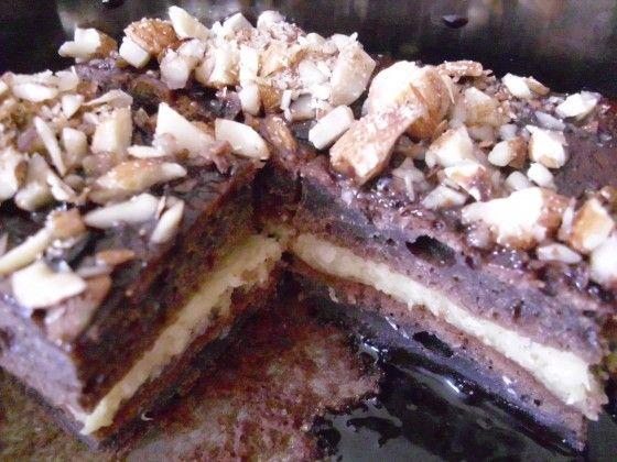Healthy (er) snack. Homemade chocolate coconut cake.