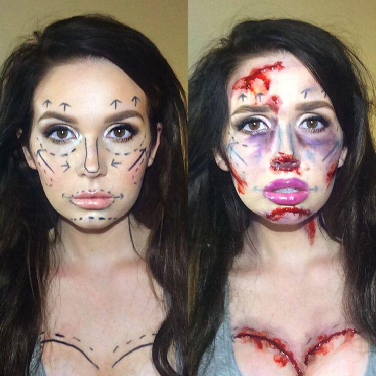 Halloween Inspiration by Katlyn S. from La' James International College - Iowa City.  @bloomdotcom #LjicIC Plastic Surgery gone wrong costume www.facebook.com/lajamesinternational www.ljic.edu